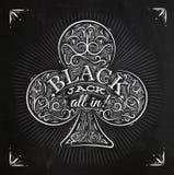 Krijt van de clubs het zwarte hefboom Royalty-vrije Stock Afbeelding