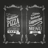 Krijttekeningen Retro typografie Stock Fotografie