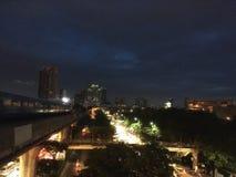 krilatskoe noc Moscow miasta Światło ogień w kapitale Zdjęcie Royalty Free