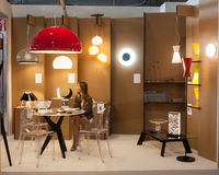 Kriliko stand at HOMI, home international show in Milan, Italy Royalty Free Stock Photography