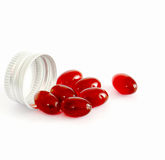 Krill oil capsules. Picture of a Krill oil capsule Stock Image