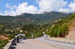 Krim, die Straße Sewastopol - Jalta Lizenzfreie Stockfotos