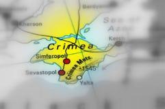 Krim halvö på den nordliga kusten av Blacket Sea arkivfoto