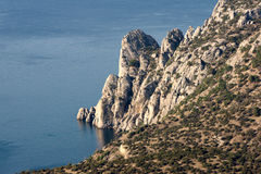 Krim-Küstenfelsen Stockfoto