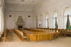 Krim Yalta - September 18, 2009 inre av den vita Hallen I Royaltyfria Bilder