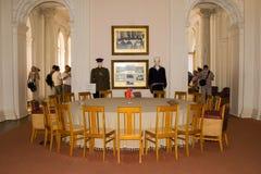 Krim Yalta - September 18, 2009 inre av den vita Hallen I Arkivbilder