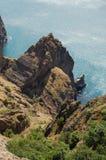 Krimgebirgslandschaft stockfoto