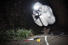Kriminalistikforscher Stockbilder