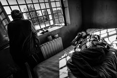 Kriminelle psychiatrische Klinik Stockfotografie