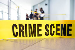 Kriminelle Szene Stockbild