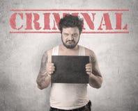 Krimineller Gangstermann Stockbilder