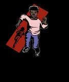 Krimineller jagender Junge Lizenzfreie Stockbilder