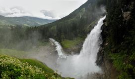 Krimmel waterfall - one of the highest waterfalls in Europe Stock Photo