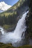 Krimml瀑布在奥地利 图库摄影