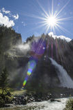 Krimml瀑布在奥地利 库存图片
