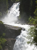 Krimml瀑布,奥地利的两个阶段 免版税库存照片