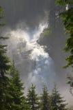 Krimml cade nell'alto parco di Tauern, Austria Fotografia Stock Libera da Diritti