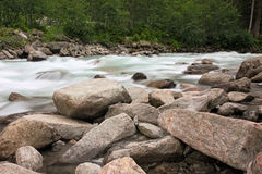 Krimml river in Austria Royalty Free Stock Photos