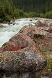 Krimml river with stones Royalty Free Stock Images