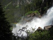 Krimml vattenfall i österrikiska fjällängar Royaltyfria Foton