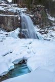 Krimml-Wasserfall im Winter stockbild