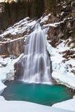 Krimml-Wasserfall im Winter lizenzfreie stockfotografie