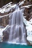 Krimml-Wasserfall im Winter stockfotos