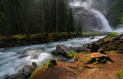 Krimml Waterfall in Austria Stock Photography