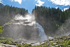 Krimml Waterfalls in Austria Stock Photo