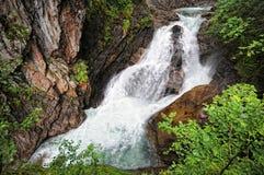 Krimml Waterfalls in  High Tauern National Park (Austria) Stock Image
