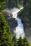 Krimml Waterfalls in  High Tauern National Park (Austria) Royalty Free Stock Images