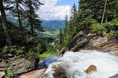 Krimml Waterfalls in  High Tauern National Park (Austria) Royalty Free Stock Image