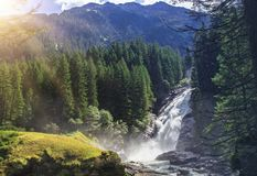The Krimml Waterfalls. In the High Tauern National Park, the highest waterfall in Austria Royalty Free Stock Images