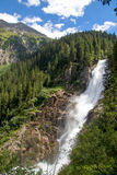 Krimml waterfalls. One of the biggest watterfall in Europe royalty free stock photos