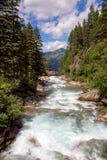 Krimml waterfalls. River on the top of Krimml waterfalls stock image