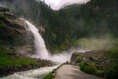 Krimmler (Krimml)瀑布 最高的秋天在奥地利(提洛尔) - A 免版税库存照片