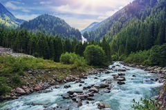 Krimmler obolałości rzeka Obrazy Royalty Free