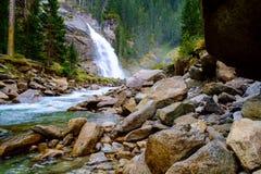 Krimmler waterfall in Austria Royalty Free Stock Image