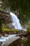 Krimmler waterfall in Austria Stock Image