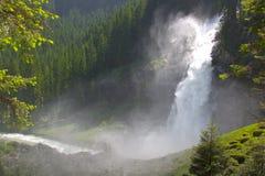 Krimmlwatervallen in Hoog Tauern-Park, Oostenrijk Stock Foto's