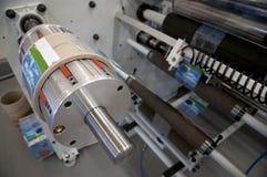 Krimp koker labeler machine. Royalty-vrije Stock Foto