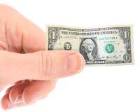 Krimpende dollar Stock Afbeelding
