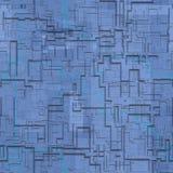 Kringen abstracte naadloze geproduceerde textuur stock illustratie