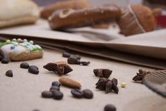 Kringla för kaka för närbild för brunt för brödmatbageri Royaltyfri Bild