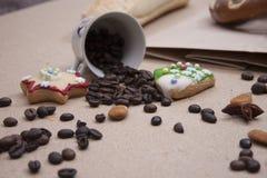 Kringla för kaka för närbild för brunt för brödmatbageri Royaltyfri Fotografi