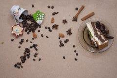 Kringla för kaka för närbild för brunt för brödmatbageri Arkivfoto