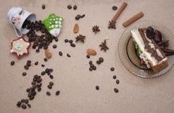 Kringla för kaka för närbild för brunt för brödmatbageri Fotografering för Bildbyråer