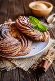 Kringle - Estonian cinnamon braid bread. Kringle - traditional Estonian cinnamon braid bread royalty free stock photo