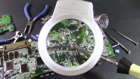 Kringsraad het solderen stock videobeelden