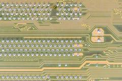 Kringsraad op computer wordt geïntegreerd die stock afbeelding